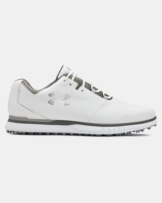 Men's UA Showdown SL Golf Shoes, White, pdpMainDesktop image number 0
